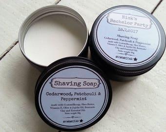Shaving Soap Favour, Mens Goats milk shaving soap, Mens Shaving Soap Bonbonniere, Mens Grooming Shaving Soap, Mens Personalized Shaving Soap