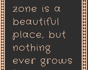 living in your comfort zone