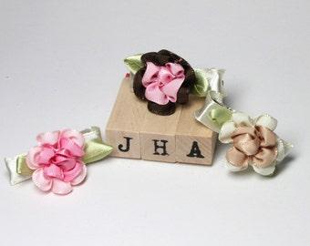 Baby girl/children/flower girl hair clips - layered flower clips