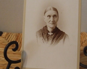 Vintage Elderly Lady Post Card, 1900's Black & White Photograph, Antique Photograph, Edwardian Old Lady, Old Victorian Lady, Vintage Photo
