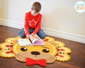 CROCHET PATTERN Lion Leonardo Rug PDF Crochet Pattern with Instant Download