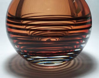 Gorgeous heavy Art Glass Vase - 6 x 6 weighing 9 lbs.
