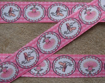 """1"""" Grosgrain Ribbon by the Yard, Ballerina Ribbon, Ballet Ribbon for Crafts, Decor, Ballerina Gifts, Hairbows, or Gifts"""