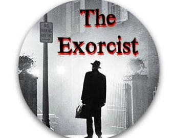 """The Exorcist 2.25"""" Pinback Button or Magnet 70s Horror Movie Demon Posession Supernatural 2 1/4"""""""