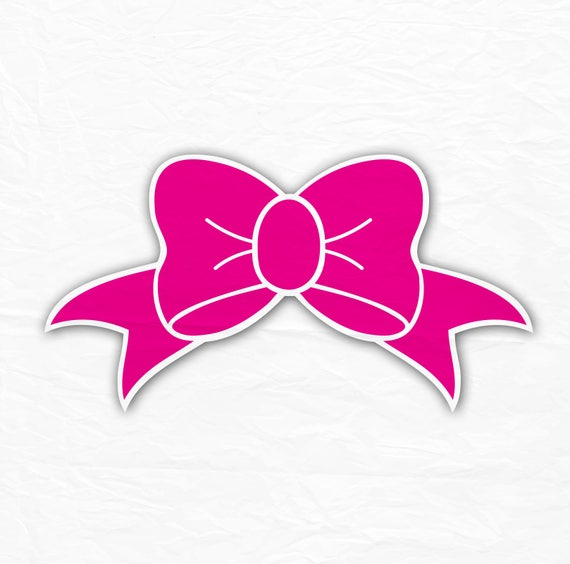 Download Bow Monogram Svg Bow Svg For Girls SVG Silhouette Cut