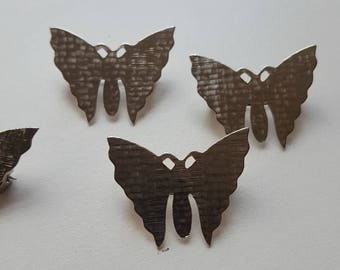 Vintage silver coloured butterfly  brooches