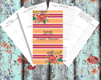 Planner bundle 2018 Yearly Planner personal Printable 2018 Monthly Planner 2018 Weekly Planner 2018 Agenda Printable Planner 2018 calendar