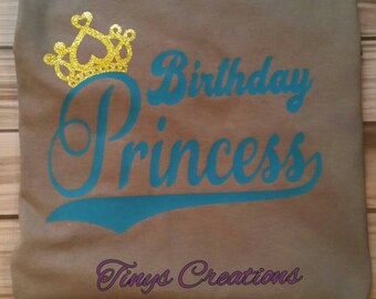 Birthday Princess, Birthday, Princess, Girl, Birthday Girl, Custom, Personalization