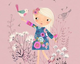 Lollipop....Giclee print of an original illustration