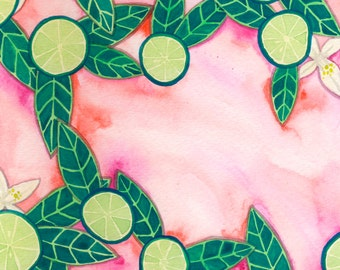 Citrus Lime Slices with Blossoms