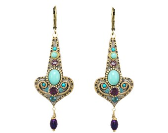 Kasbah Motif Drop Earrings