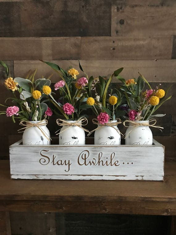 Rustic Decor, Floral Arrangement, Home Decor, Rustic Home Decor, Farmhouse , Mason Jar Decor , Rustic Sign, Farmhouse Table, Mothers Day