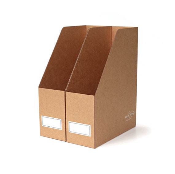 Cardboard Magazine File Holders 100 X Kraft File Boxes Magazine File  Holders Kraft Paper 13