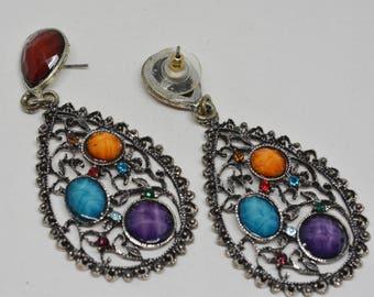 Colorful multi color earrings