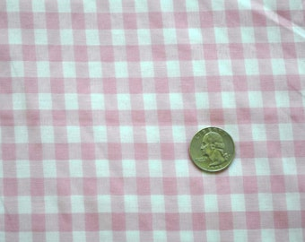 CLEARANCE - Gingham in pink - sold by the yard