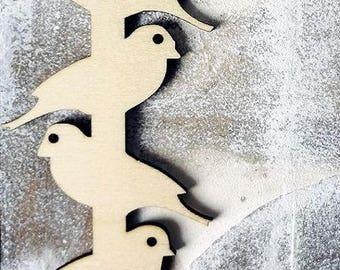 Bird 856 embellishment wooden creations