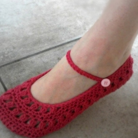 Download Now CROCHET PATTERN Ladies Sweetheart Mary Janes
