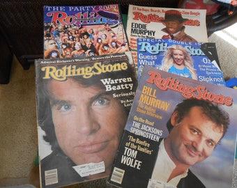 5 ROLLING STONE Vintage Magazines