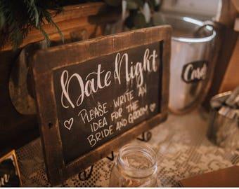 Hand Lettered Wedding Decor
