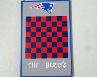 Personalized Patriots Checker Board, checker board, game board, Sports game boards
