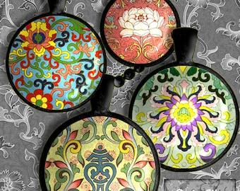 "Printable Digital Sheet 1.5"" Circles (Or Smaller)  24 Chinese Ornament Design Asian Art Digital Art Oriental Clipart CS 223"