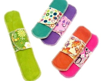 Medium Flow Starter Collection 5 Moonpads Organic Reusable Cloth Menstrual Pads