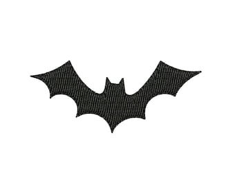 Bat Silhouette - Halloween machine embroidery design. 4 sizes. Instant download