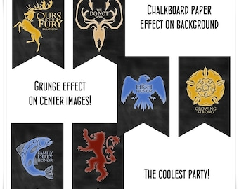 Game of Thrones Party Printables Banners I