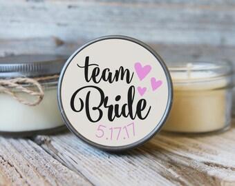 Set of 12 - 4 oz Soy Candles - Team Bride Candles//Team Bride Shower Favors//Team Bride Favors//Bride Tribe//Bridal Brigade