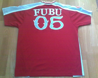FUBU jersey, vintage old-school t-shirt of 90s hip-hop clothing, 1990s OG, gangsta rap, size S, RARE!