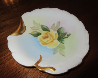 YELLOW ROSE PLATE