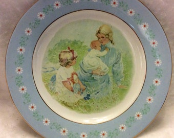 Vintage 1974 Avon Products Pontesa Ironstone tenderness plate.