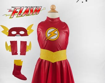 Lady Flash Girl Costume for Kids