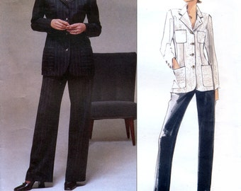 Vogue American Designer 2163 Sewing Pattern for Misses' Jacket and Pants - Uncut - Size 8, 10, 12