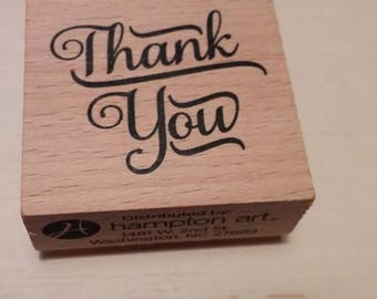 Retired Rubber Stamp  -   Thank You