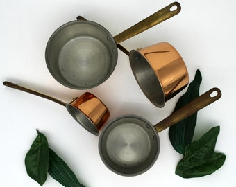 Vintage Mini Copper Pots