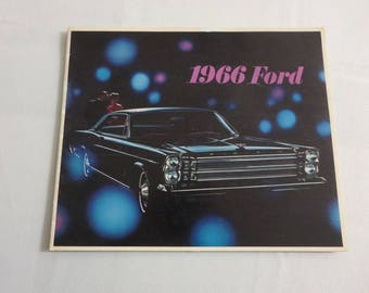 1966 Ford Sales Brochure Catalog LTD Galaxie 500 Country Squire +