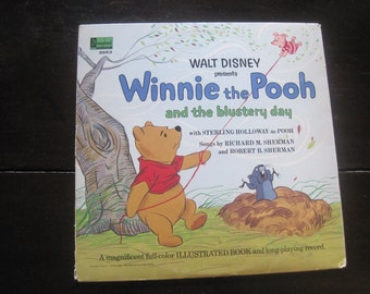 Vintage Record-Winnie the Pooh and the Blustery Day-1967-Sherman Brothers-Disneyland