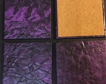 Super cool Purple 4 piece Coaster Set