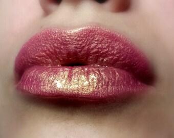 Summer Love - Duochrome Peach Pink with Golden Shimmer Lip Gloss - Vegan - Gluten Free - Fresh - Handmade Cruelty Free