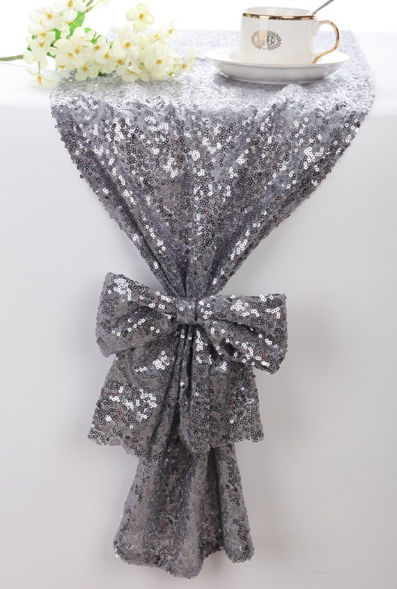 Attrayant Sequin Table Runner Silver Grey Sparkle Table Runner Bling