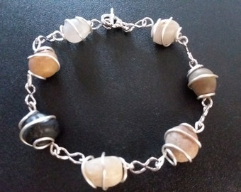 Lake Superior Beach Stone Bracelet