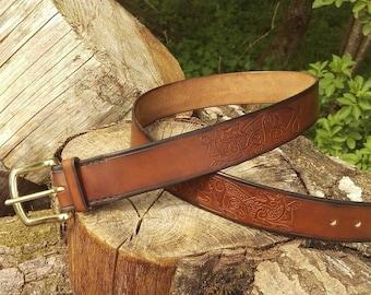 Norse Fenrir Leather Belt