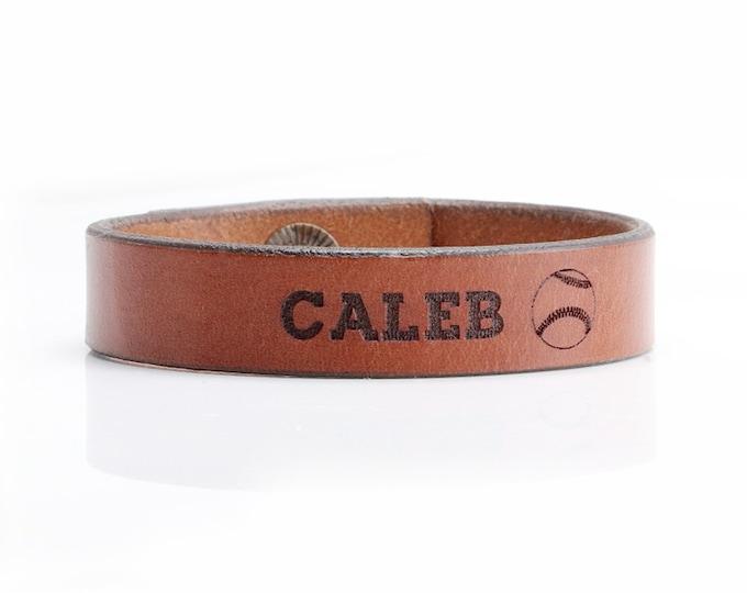 Personalized Baseball Bracelet, Baseball Team Bracelet, Baseball Bracelet Customized, Men Baseball Bracelet, Leather Baseball Bracelet