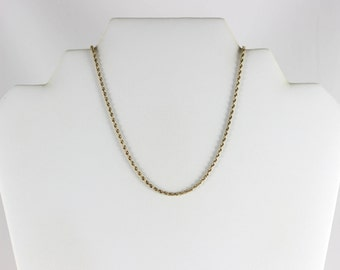 10K Yellow Gold Rope Chain Necklace 19 inch chain
