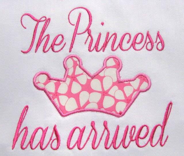 The Princess Has Arrived Machine Applique Embroidery Design