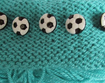 Black and White Football Buttons