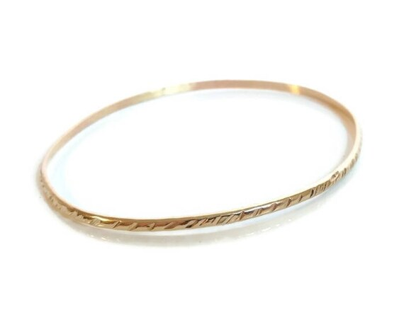 bangle gold thin set bangles ca il oval listing