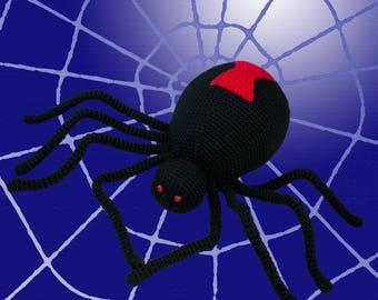 Crochet Pattern ~ Black Widow Spider ~ Crochet Pattern