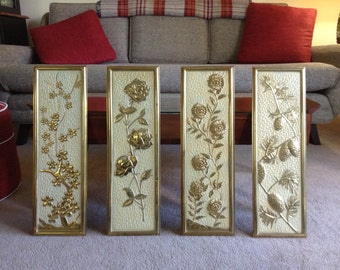 Four Seasons Brass Wall Plaques